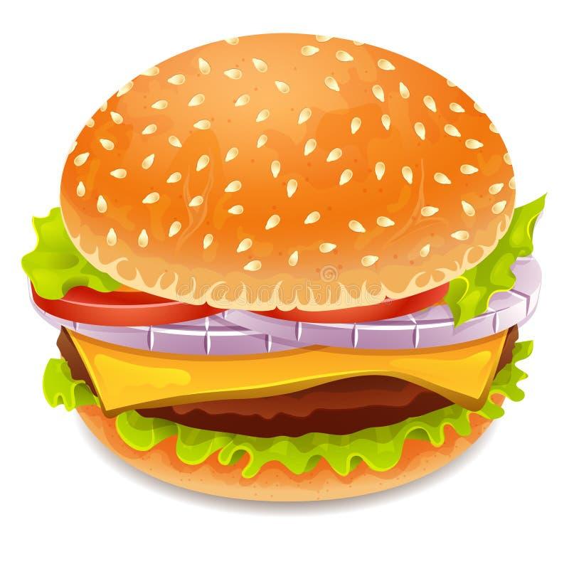 Hamburgerpictogram stock illustratie