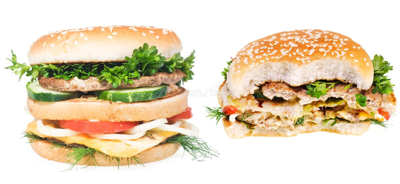 hamburgers stock foto's