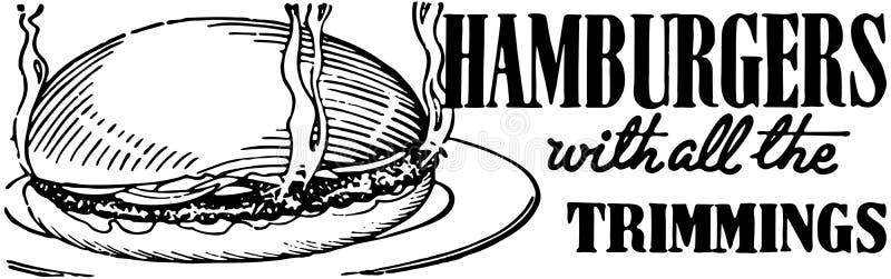 hamburgers ilustração stock