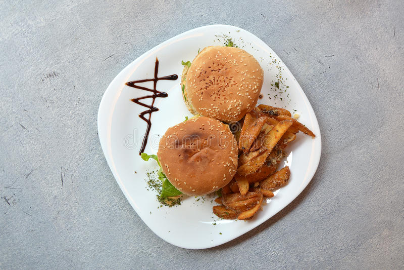 Hamburgers Decoration stock photo