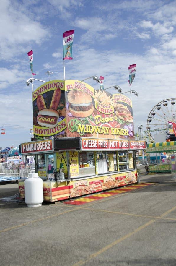 Hamburgers et hot-dogs photographie stock libre de droits