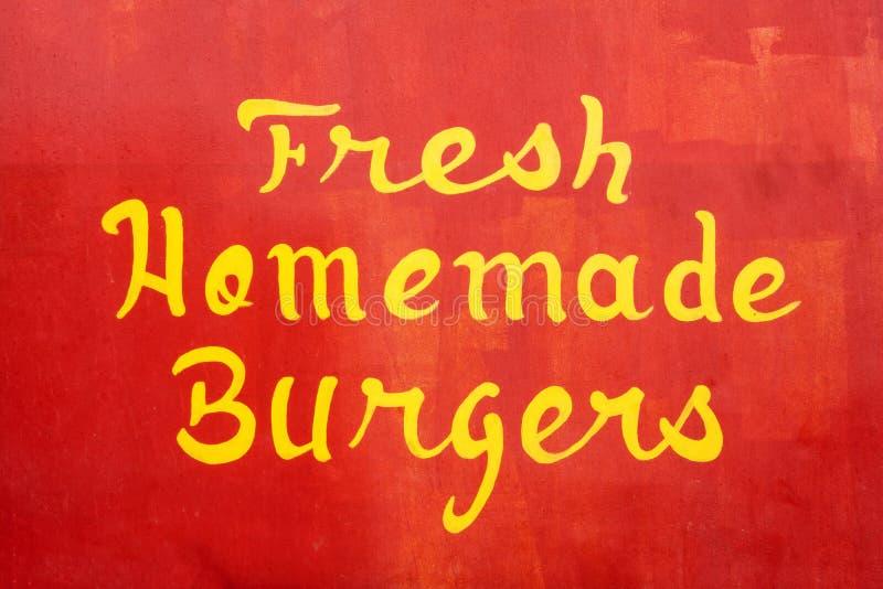 Hamburgers faits maison frais photographie stock libre de droits
