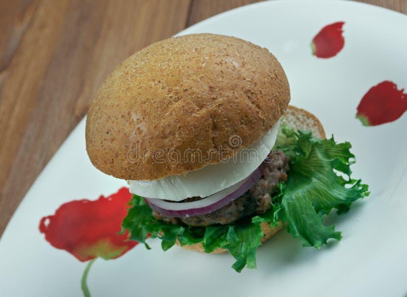 Hamburgers grecs finaux photographie stock libre de droits