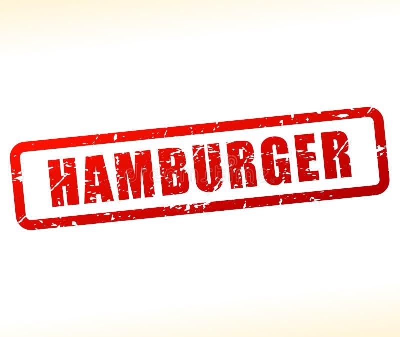 Hamburgerstempel auf weißem Hintergrund lizenzfreie abbildung