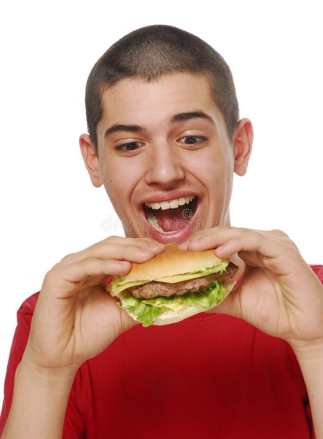 hamburgeru czas fotografia stock