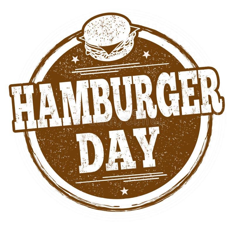 Hamburgeru dnia znaczek lub znak ilustracja wektor