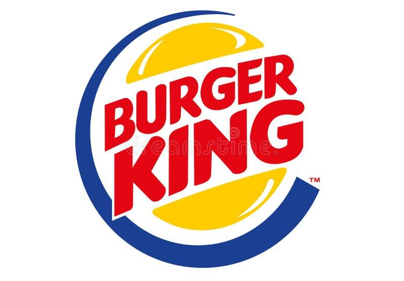 hamburgeru królewiątka logo ilustracja wektor