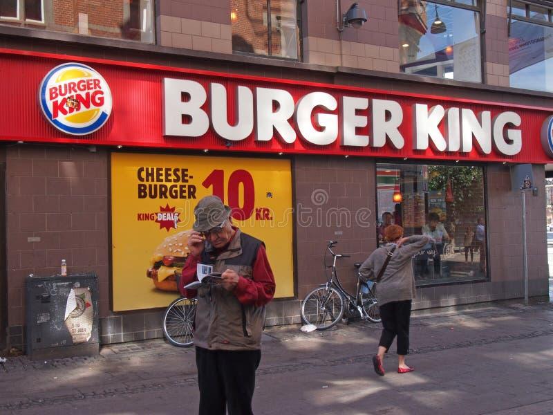 Hamburgeru królewiątka sklep Copenhagen obrazy stock