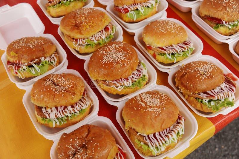 hamburgeru kurczak obrazy stock