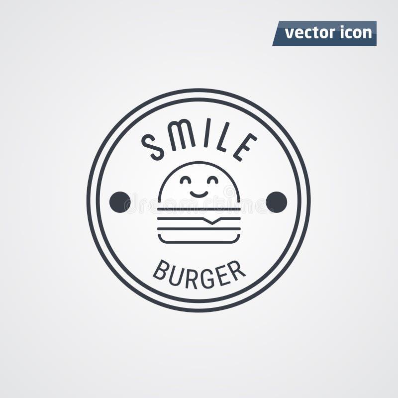 Hamburgeru loga wektor ilustracji