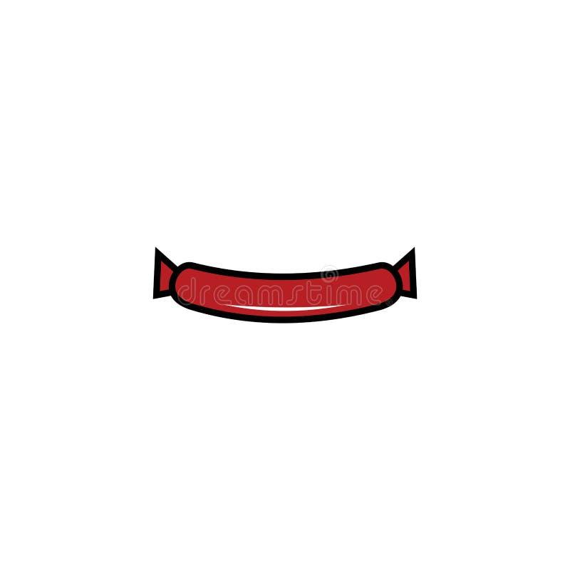 hamburgeru logo projekta wektor, ikony jedzenie, ser royalty ilustracja