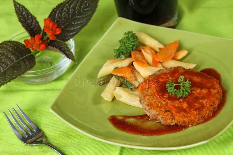 Hamburgeru mięso fotografia stock
