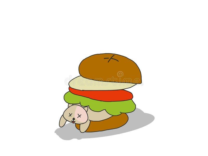 Hamburgeru niedźwiedź zdjęcia royalty free