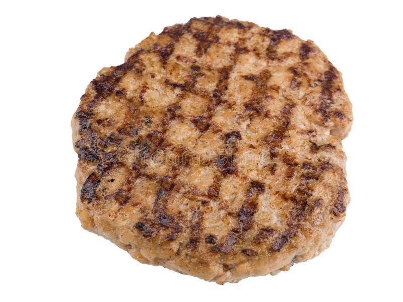 Hamburgeru stek odizolowywający na białym tle z ścinek ścieżką fotografia royalty free