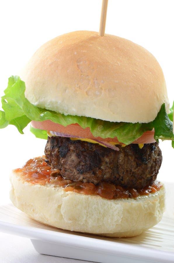 Hamburgeru suwak obrazy royalty free