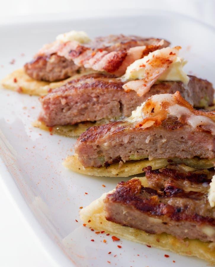Hamburgeru zbliżenie zdjęcie stock