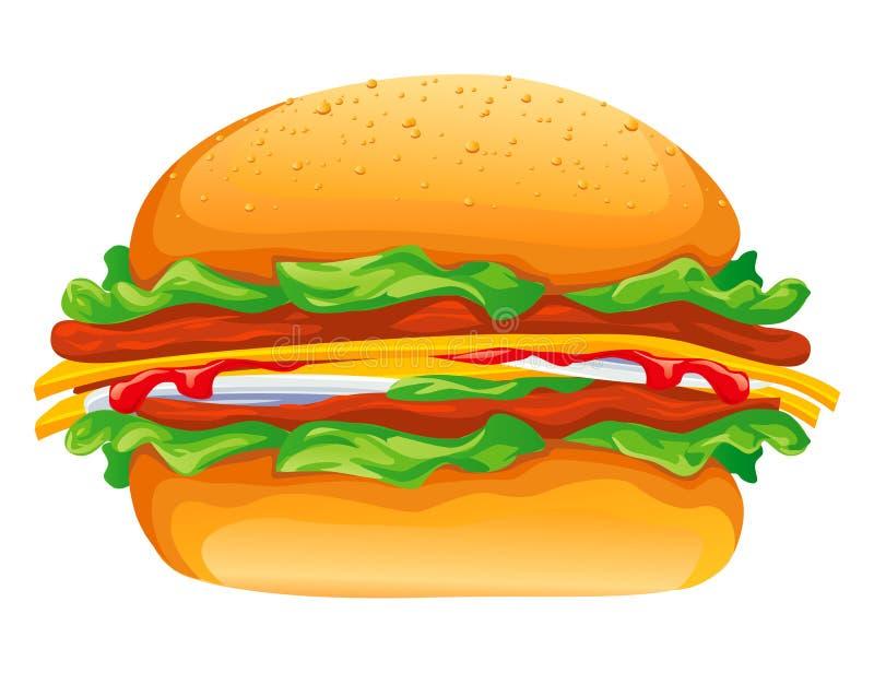Hamburgervektorabbildung vektor abbildung