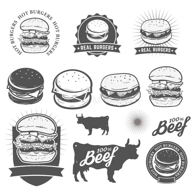 hamburgery ilustracji