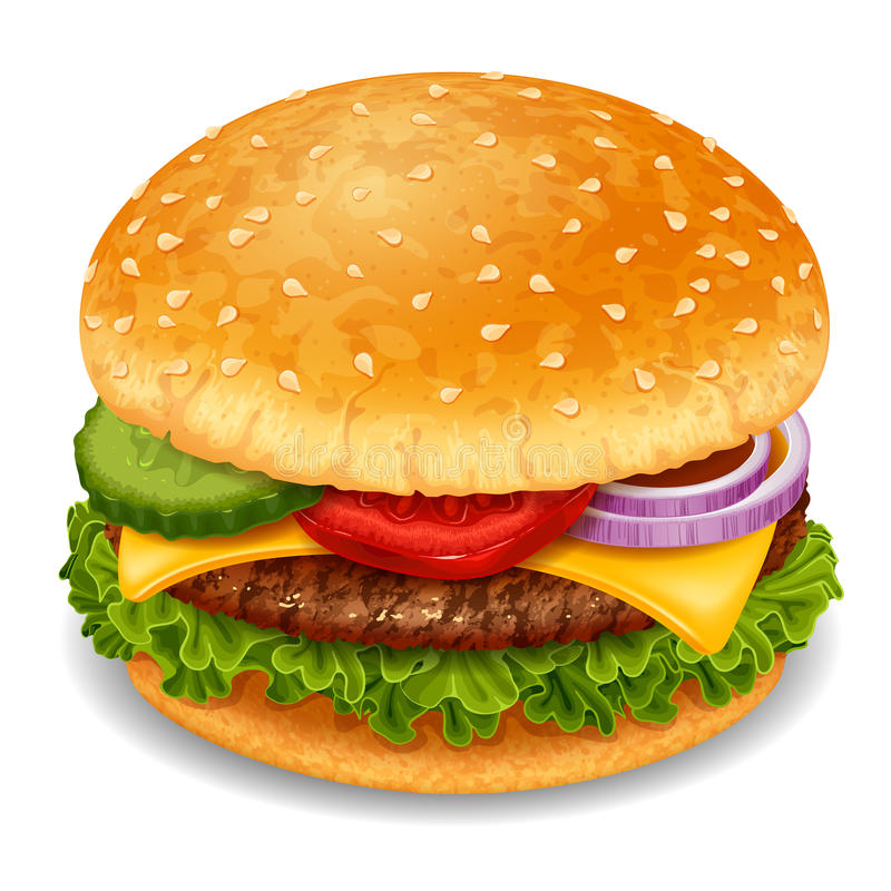 hamburgery royalty ilustracja