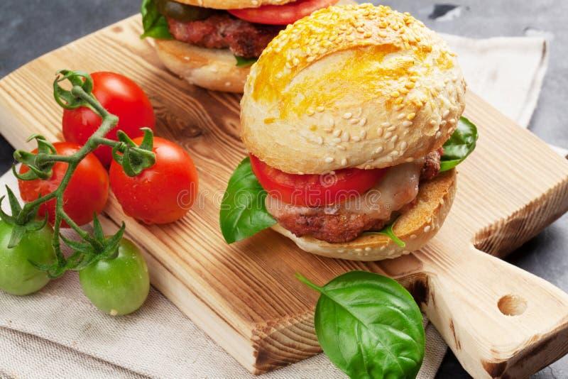 hamburgery domowej roboty zdjęcie stock