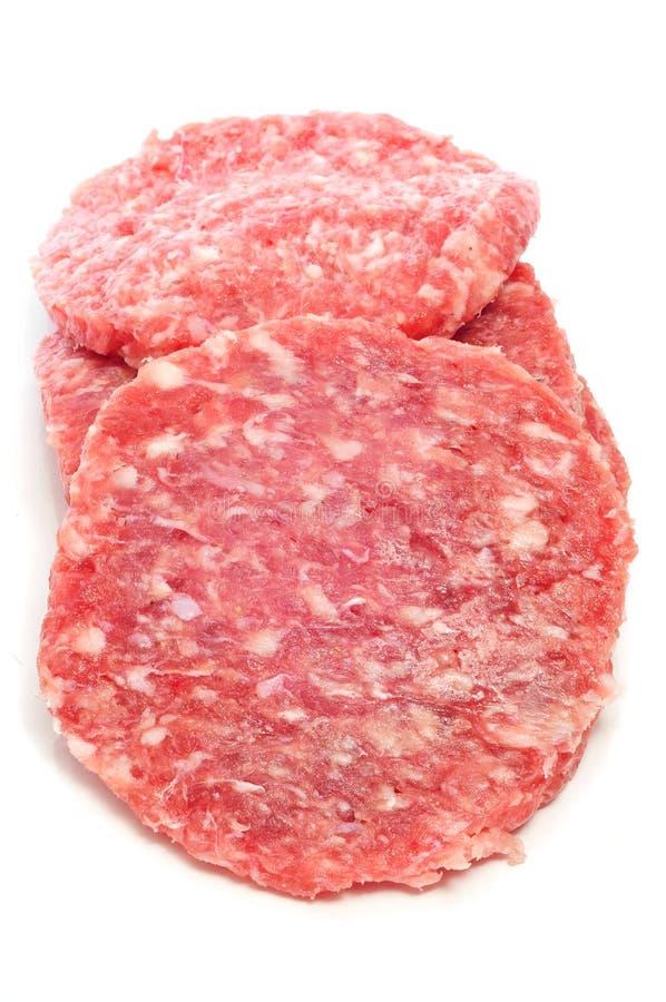 hamburgery surowi fotografia stock