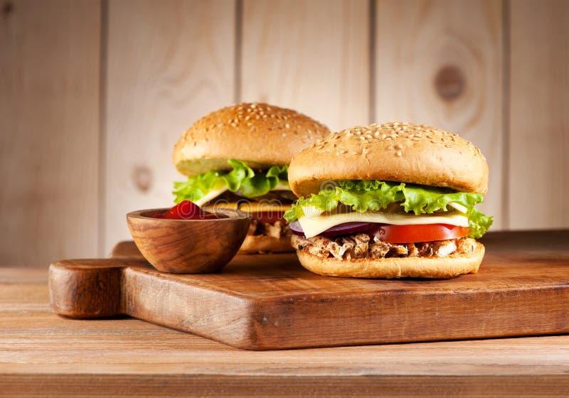 Hamburgery z mięsnym indykiem fotografia royalty free