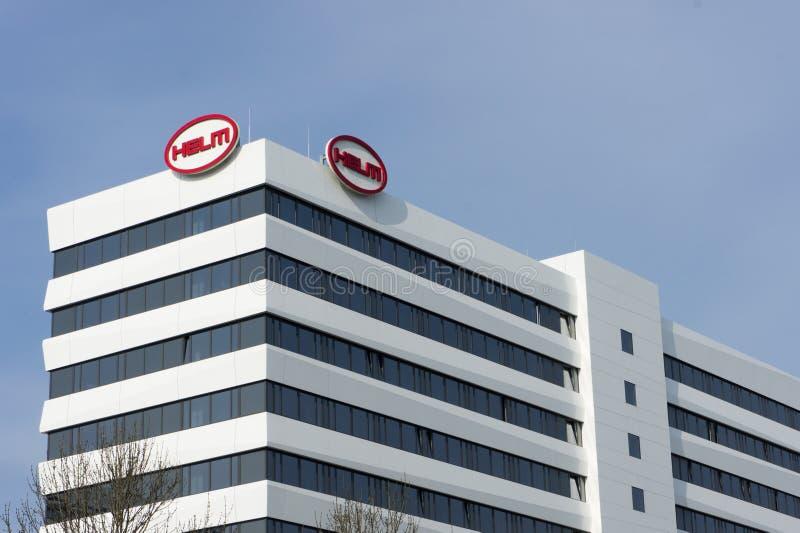 Hamburgo, Alemania - 23 de marzo: Exterior de Helm Company que construye el 23 de marzo de 2015 en Hamburgo fotos de archivo