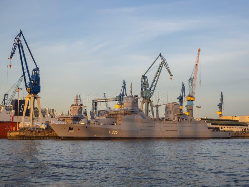 Hamburgo, Alemania El puerto y los astilleros foto de archivo libre de regalías