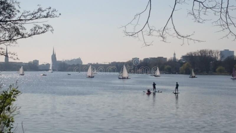 Hamburgo Alster fotos de archivo
