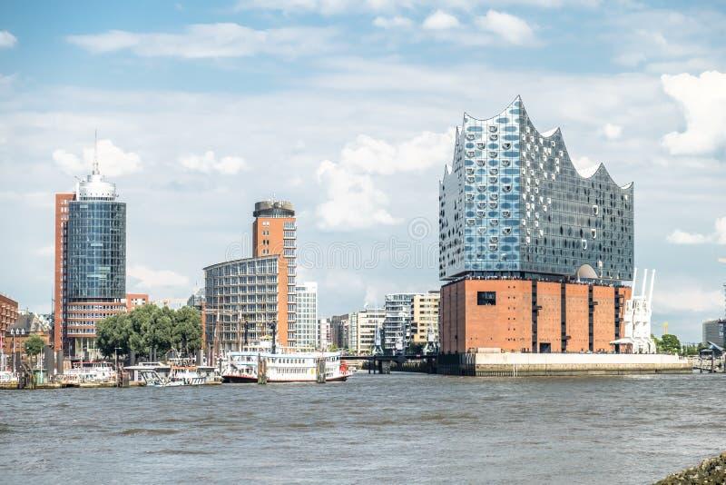 Hamburgo, Elbphilharmonie, ciudad del almacenamiento imágenes de archivo libres de regalías