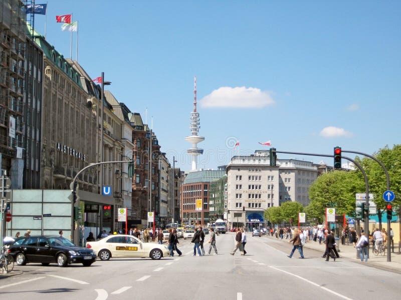 Hamburgo Jungfernstieg, Alemania imagen de archivo