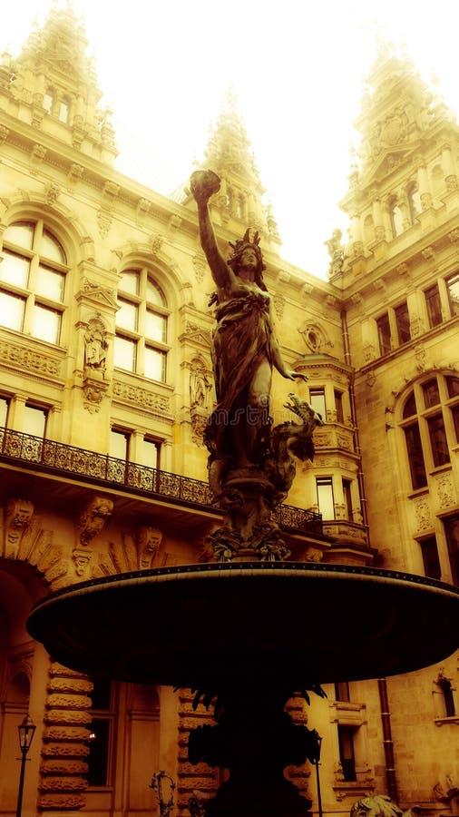 Hamburgo Townshall foto de archivo libre de regalías
