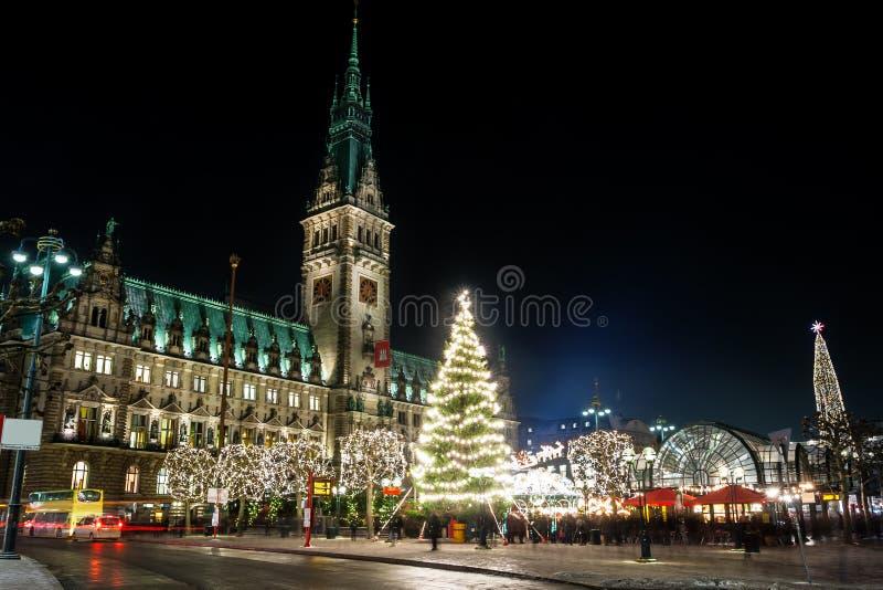 Hamburgo Weihnachtsmarkt, Alemania fotografía de archivo libre de regalías