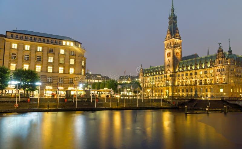 Hamburgs piękny townhall zdjęcie stock