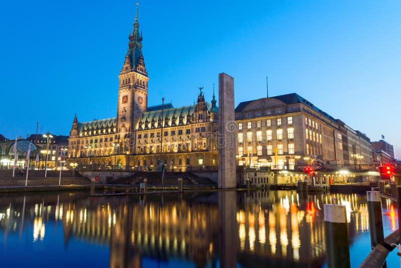Hamburgs piękny townhall zdjęcia stock