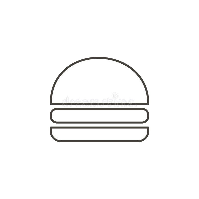 Hamburguer, ícone do vetor do Hamburger Ilustra Hamburguer, ícone do vetor do Hamburger Vetor do conceito da bebida ilustração stock