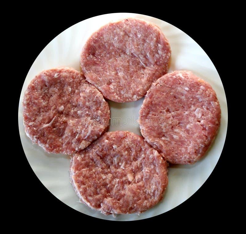 Hamburguer da carne de Turquia foto de stock