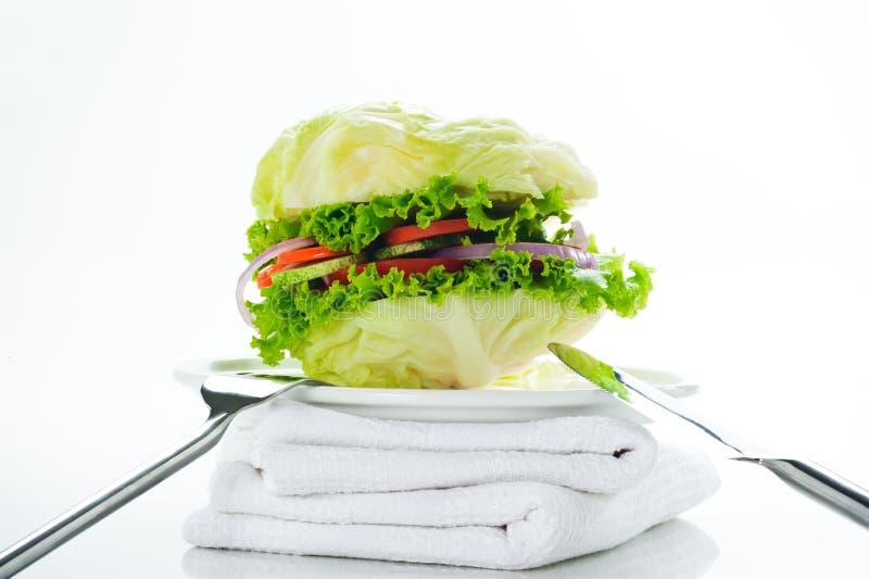 Hamburguer do vegetariano imagens de stock