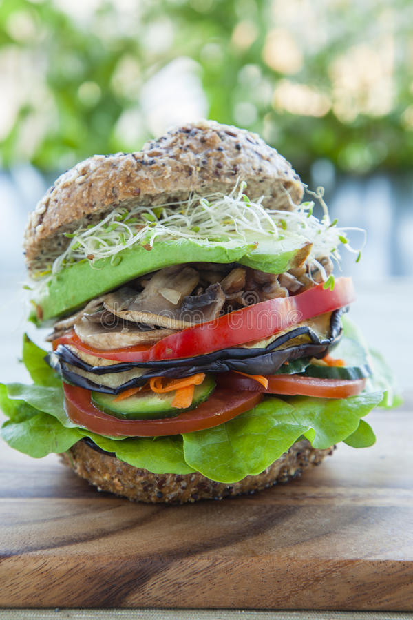Hamburguer do vegetariano foto de stock royalty free