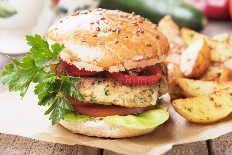 Hamburguer do vegetariano imagem de stock royalty free