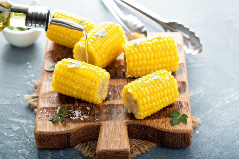 Hamburguer do vegetariano com ovo e abacate fotografia de stock royalty free