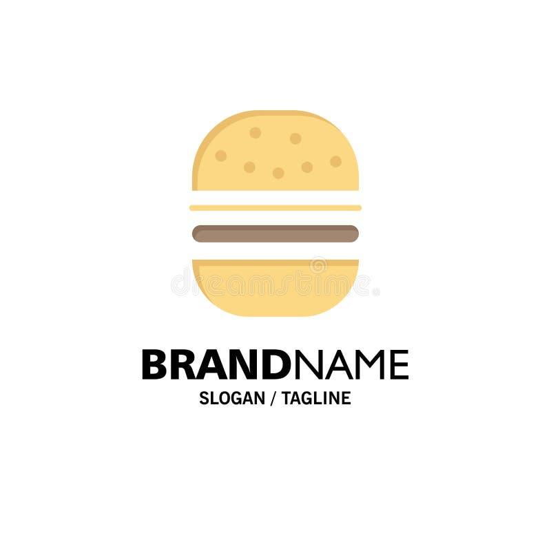 Hamburguer, fast food, rápido, negócio Logo Template do alimento cor lisa ilustração stock