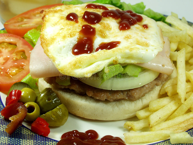 Download Hamburguesa imagen de archivo. Imagen de almuerzo, chatarra - 1295265