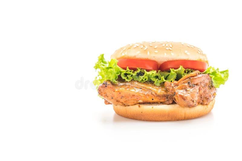 Hamburguesa asada a la parilla del pollo imagen de archivo libre de regalías