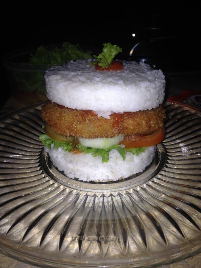 Hamburguesa del arroz foto de archivo libre de regalías