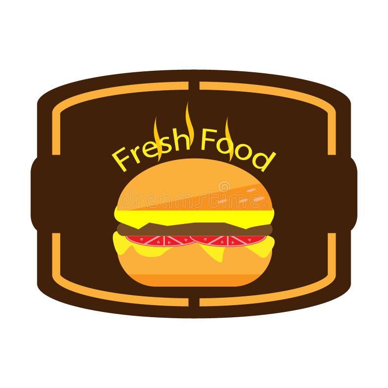Hamburguesa del extracto del logotipo del ejemplo stock de ilustración