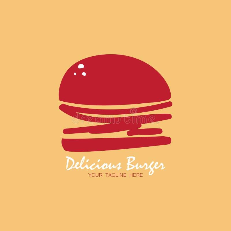 Hamburguesa deliciosa abstracta stock de ilustración
