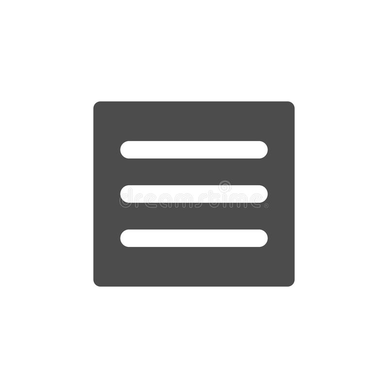 Hamburguesa Manu - iconos de UI y de UX para el móvil o las aplicaciones web libre illustration