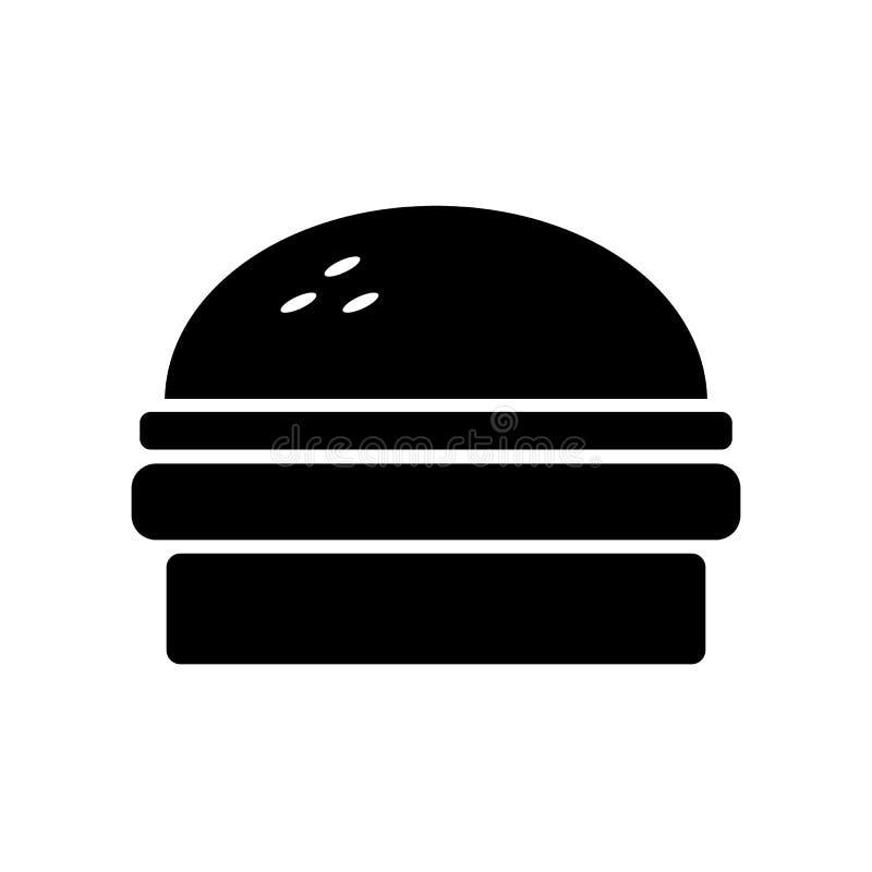 Hamburguesa negra deliciosa stock de ilustración