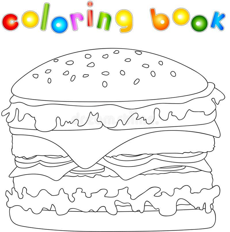 Hamburguesa Sin Pintar Libro De Colorear Para Los Niños Sobre Los ...